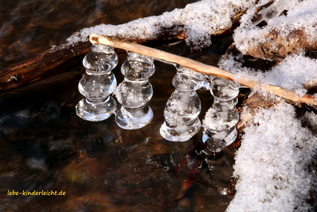 Eis im Fluß